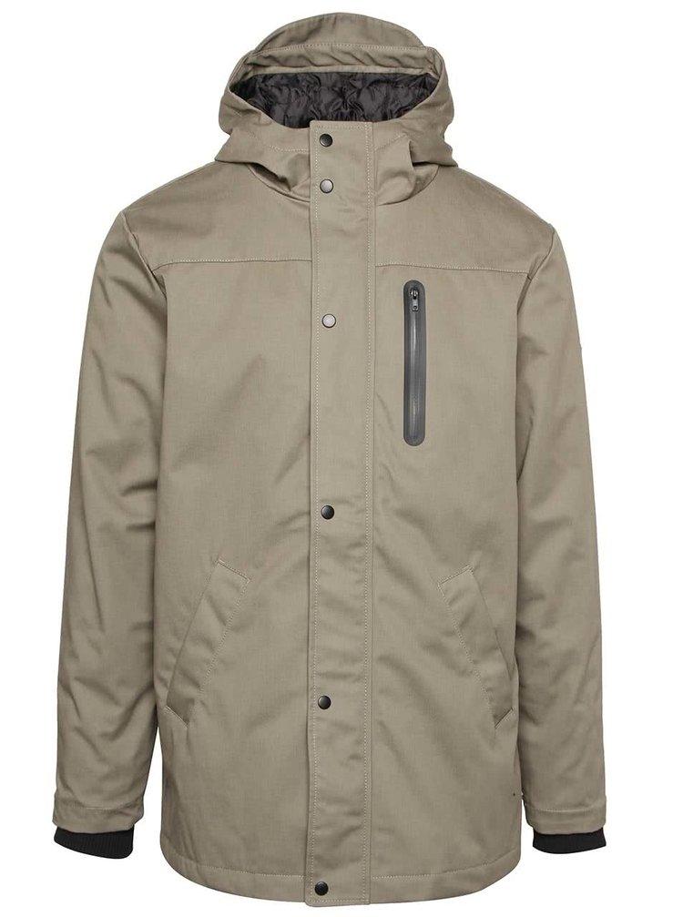 Khaki pánská bunda s kapucí RVLT