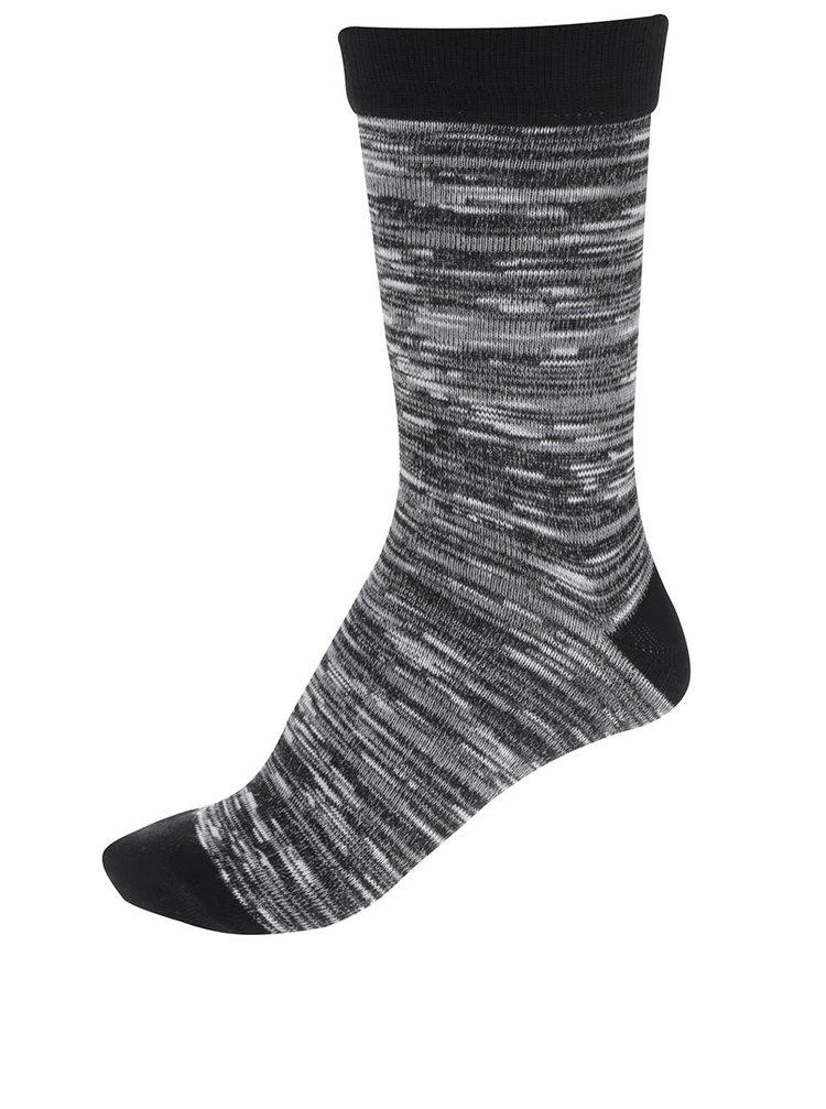 Čierne pruhované ponožky Jack & Jones Blue
