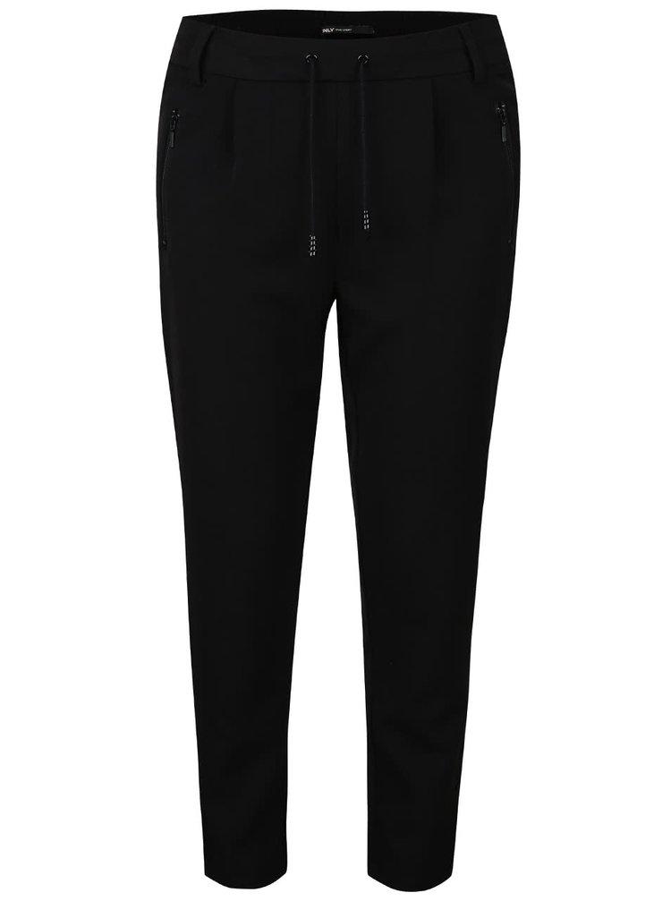 Čierne voľnejšie nohavice ONLY Poptrash