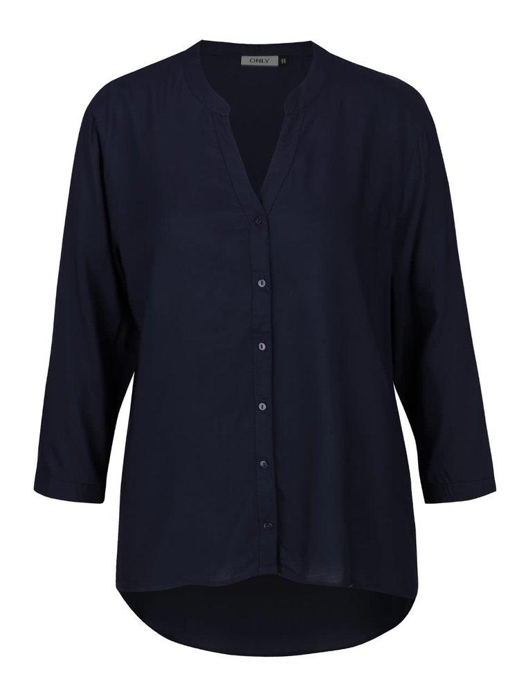 Tmavě modrá halenka s 3/4 rukávy ONLY Vera