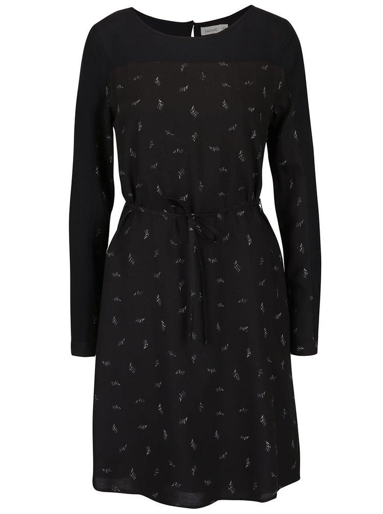 Černé šaty s potiskem Lavand