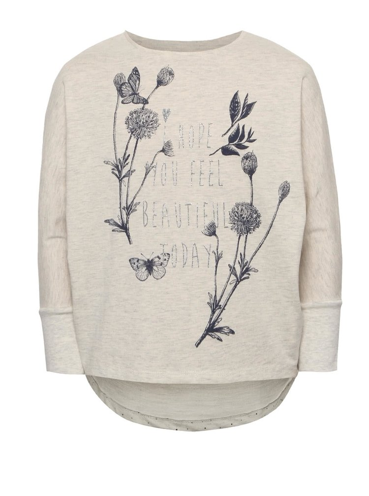 Bluză crem 5.10.15. cu tiv asimetric pentru fete