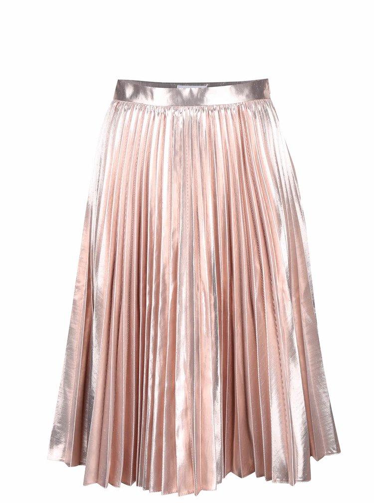 Růžová metalická plisovaná sukně Closet