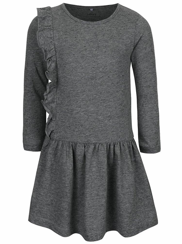Tmavosivé melírované dievčenské šaty name it Kathe