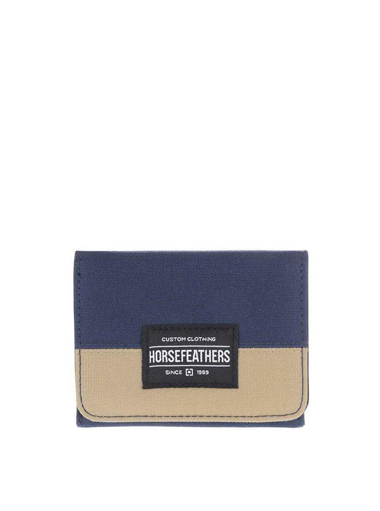 Modrá pánská peněženka s khaki pruhem Horsefeathers Waller