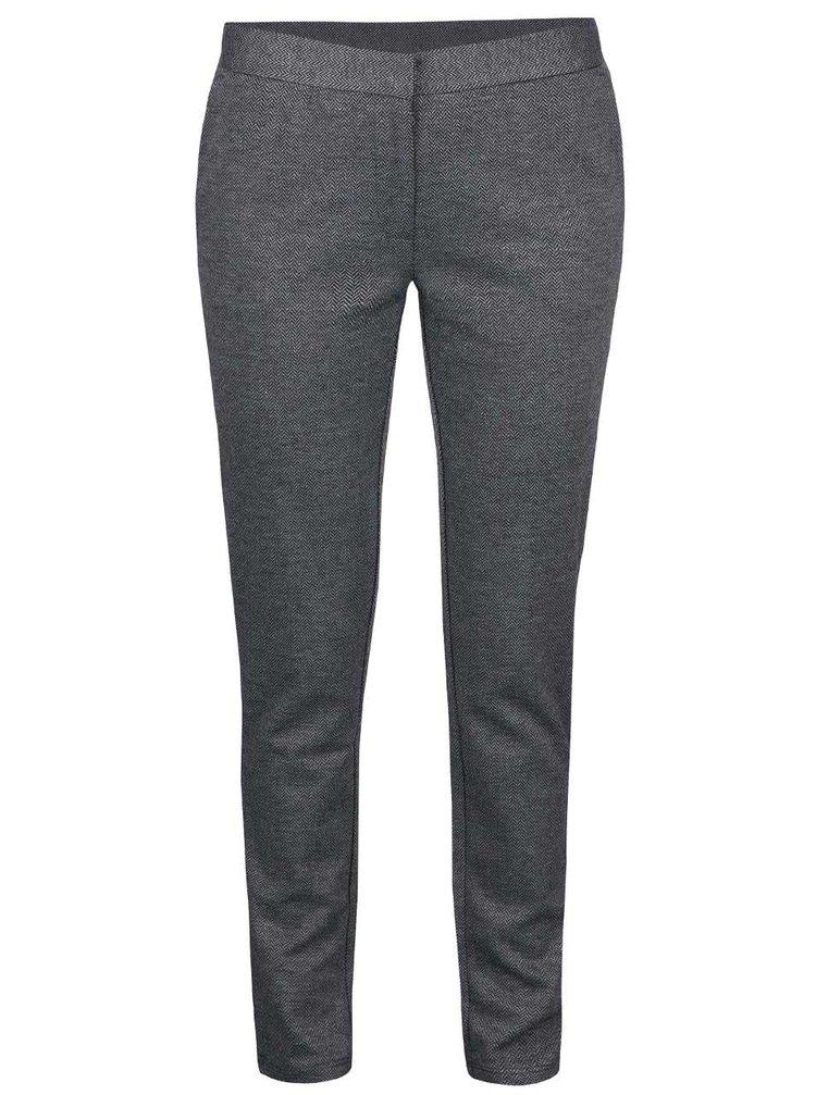 Pantaloni gri VILA Pinny cu model
