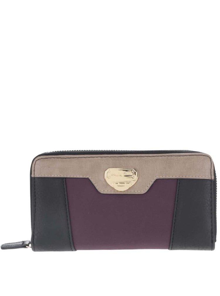 Fialovo-černá peněženka Andrea Bucci