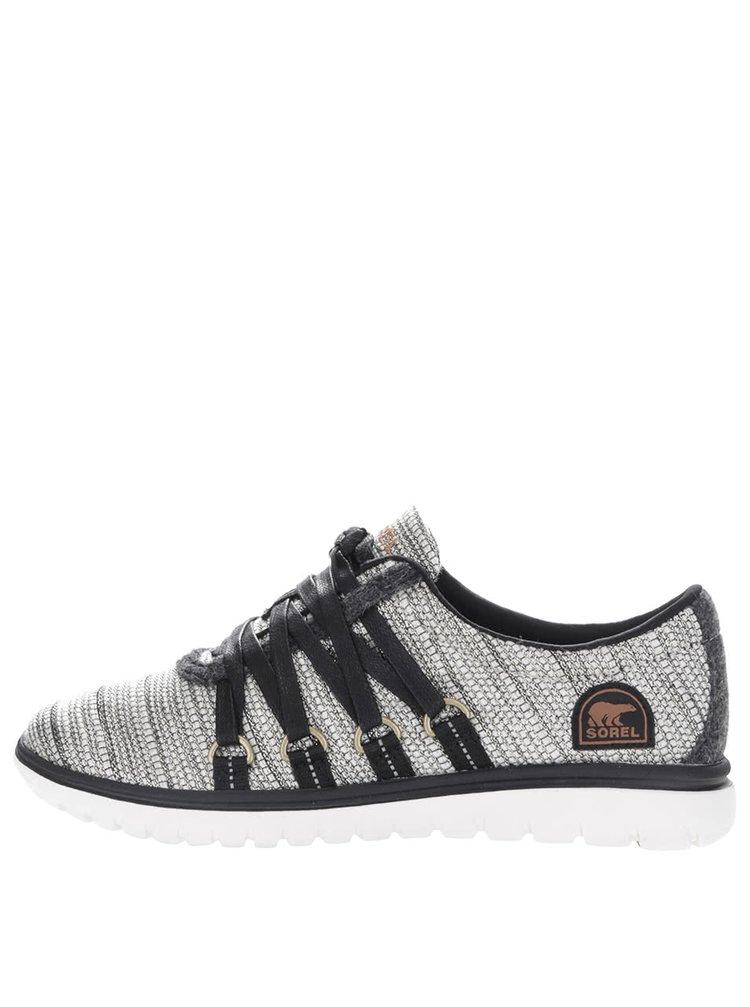 Čierno-krémové tenisky s viazaním SOREL Tivoli Go