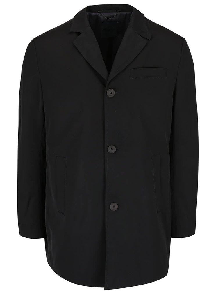 Čierny kratší kabát Bertoni