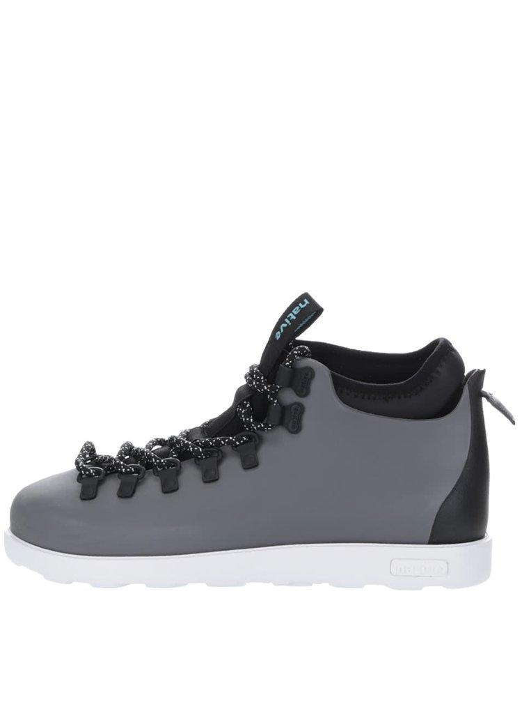 Sivé pánske členkové topánky s vsadkou Fitzsimmons block Native