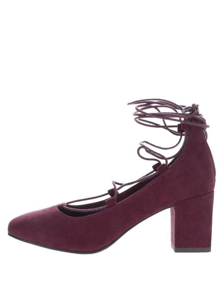 Pantofi vișinii Tamaris cu toc