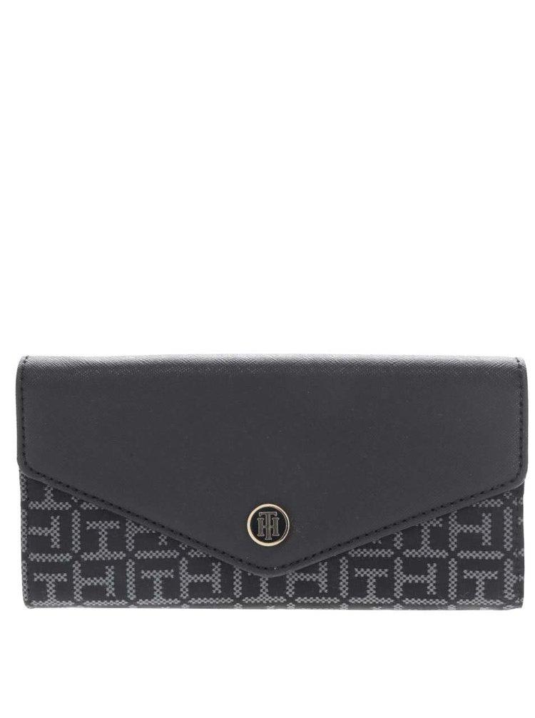 Čierna dámska peňaženka s potlačou Tommy Hilfiger
