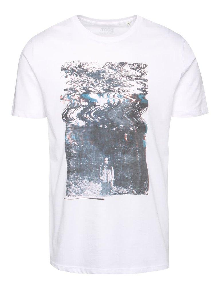 Biele pánske tričko s potlačou ZOOT Originál Horror and chill