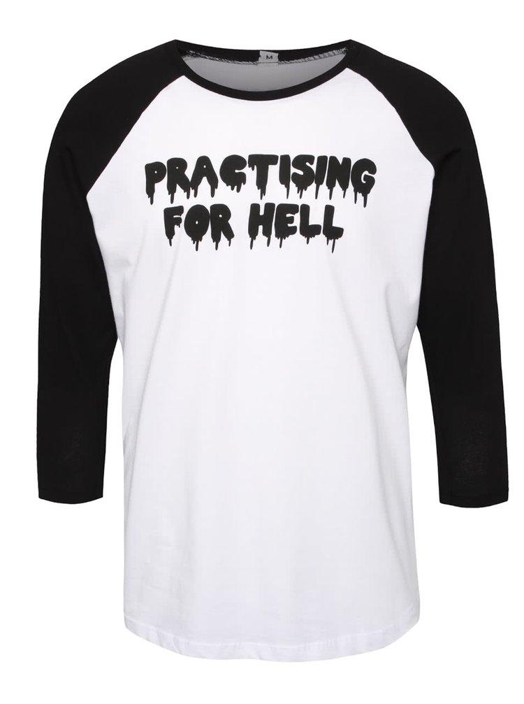 Čierno-biele pánske tričko s nápisom ZOOT Originál Practising