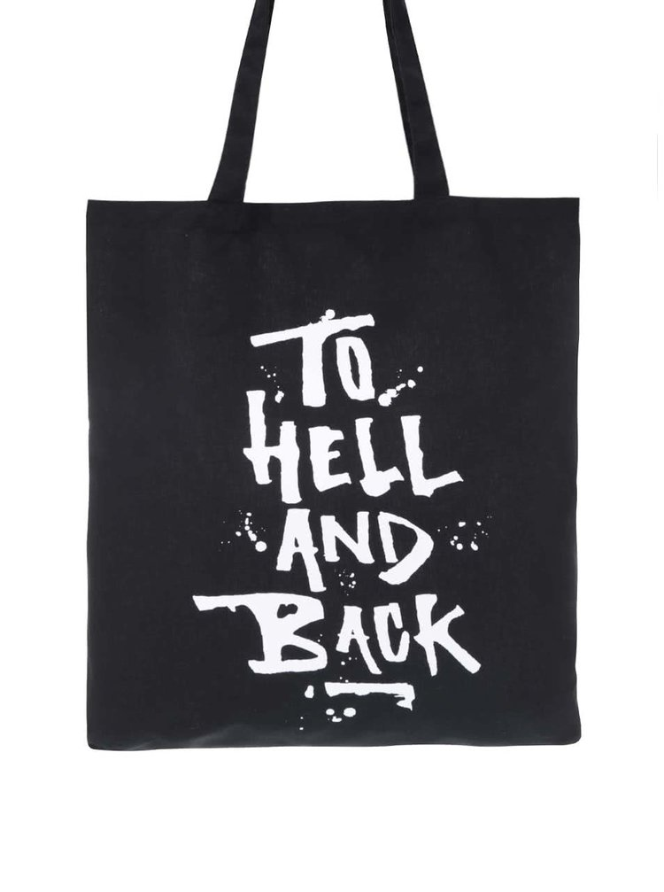 Černá plátěná taška s potiskem ZOOT Originál To Hell