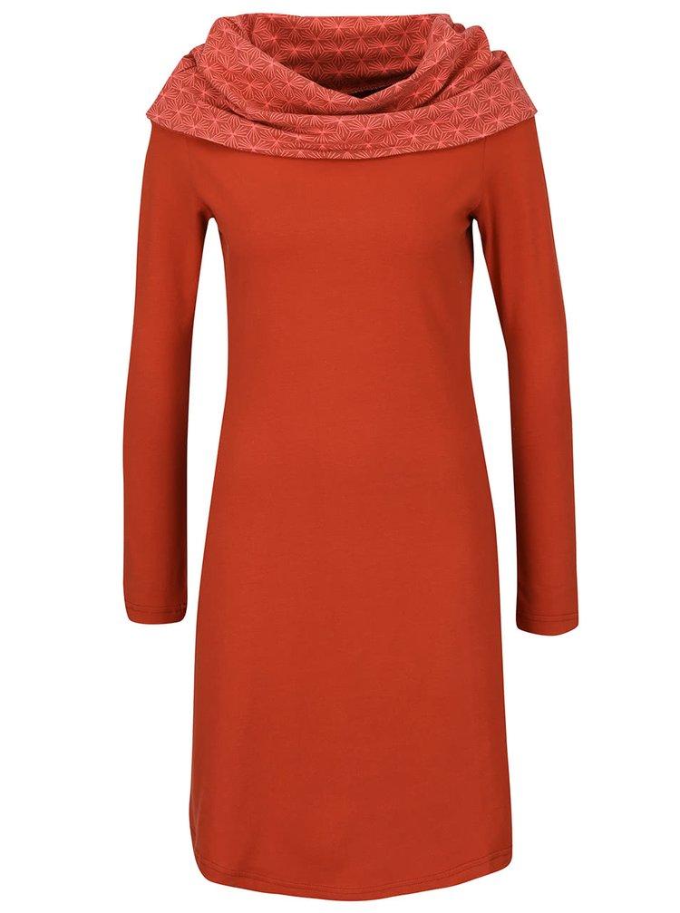 Tehlové šaty s golierom Tranquillo Serail