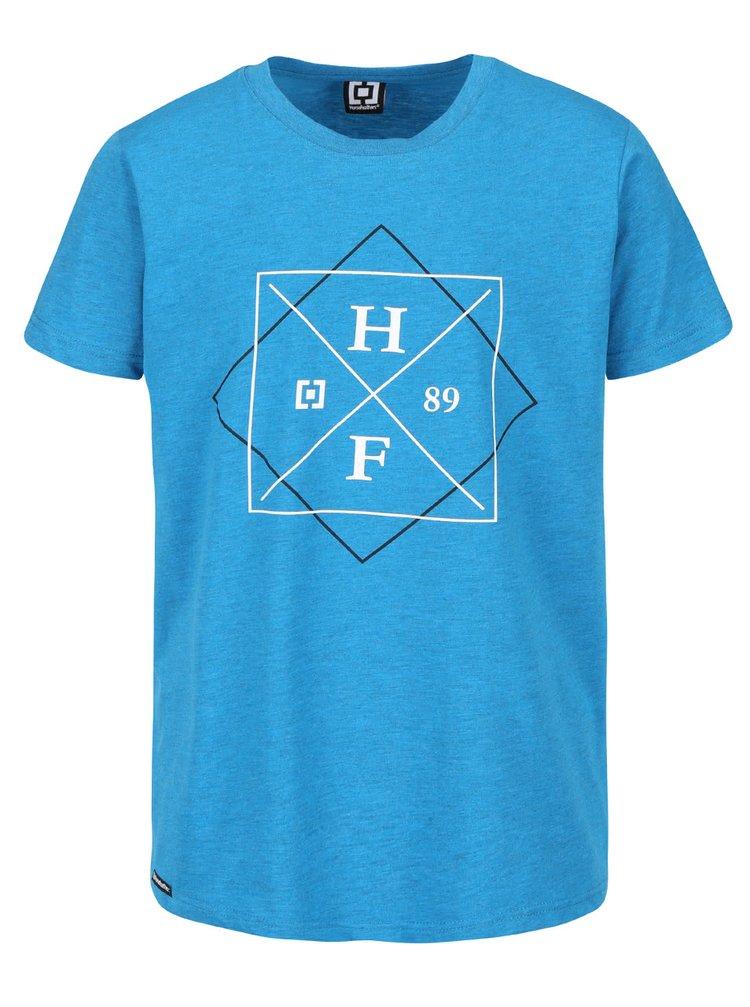 Tricou albastru Horsefeathers Cross cu print pentru bărbați