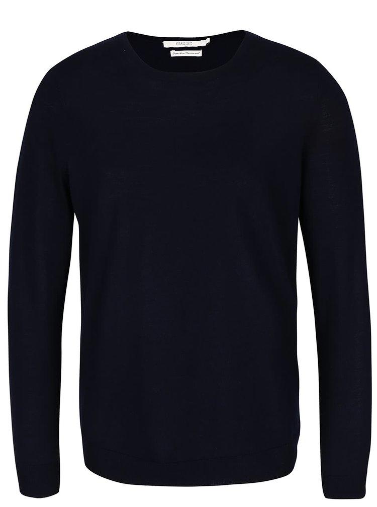 Tmavofialový vlnený sveter Jack & Jones Premium Mark