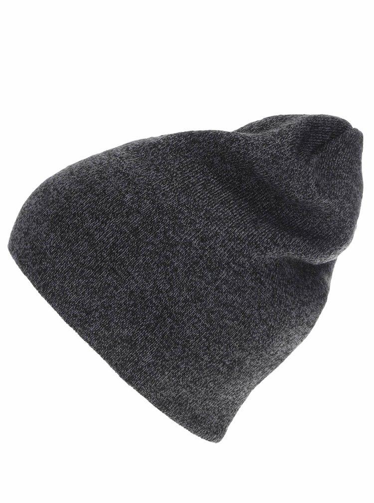 Tmavě šedá pánská čepice 2 v 1 Quiksilver Heatbag