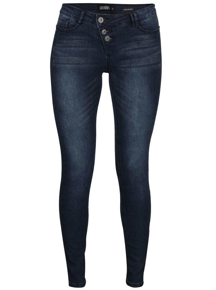 Tmavě modré strečové džíny Haily´s Shirley