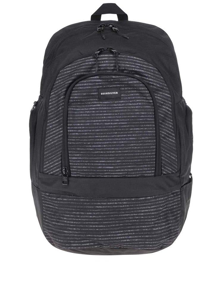 Sivo-čierny pánsky batoh s pruhmi Quiksilver Special