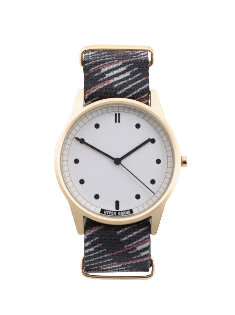Ceas negru cu model HYPERGRAND de bărbați