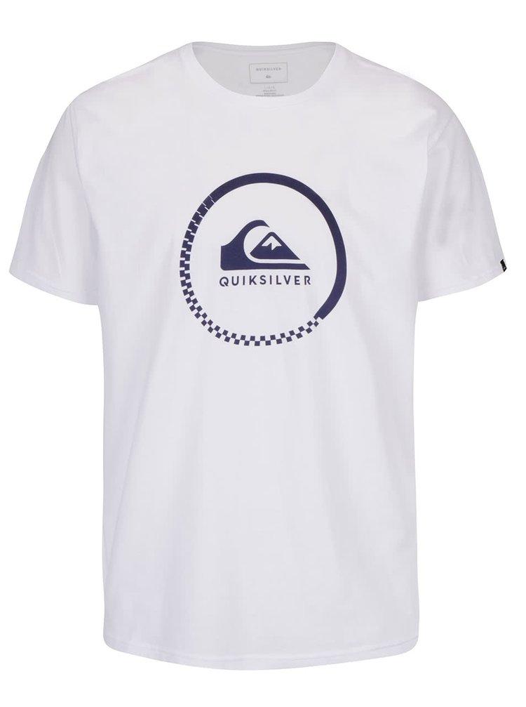 Bílé pánské triko s potiskem Quiksilver Clastess Activlo