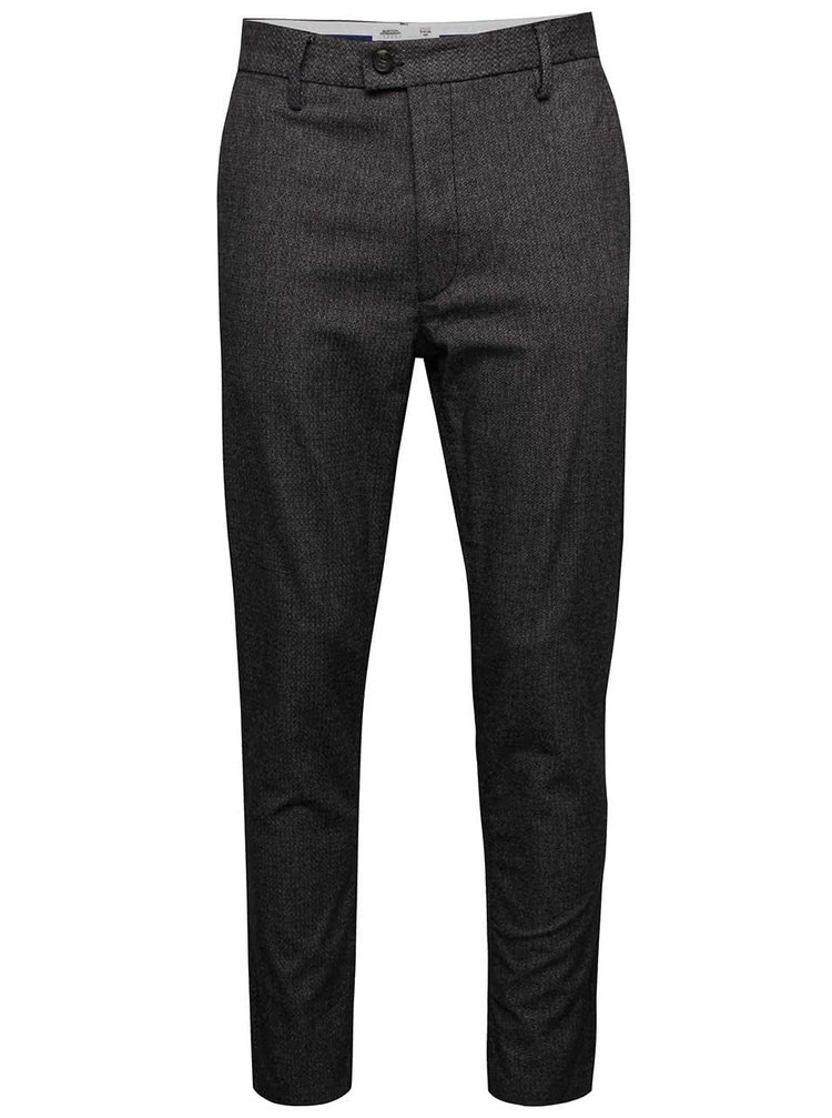 Pantaloni gri închis Burton Menswear London slim fit