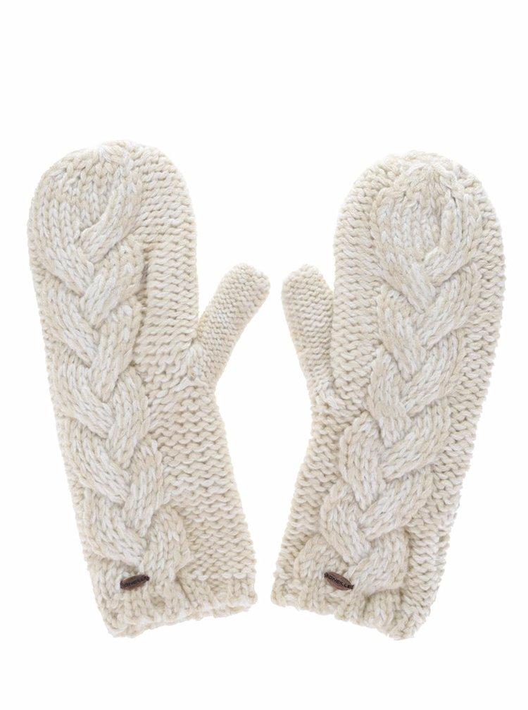 Krémové dámské pletené palčáky O'Neill Fox