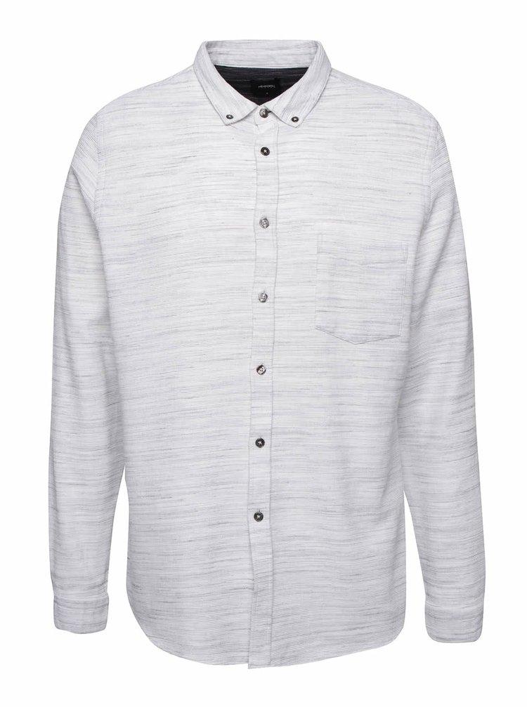 Krémová melírovaná košeľa Burton Menswear London