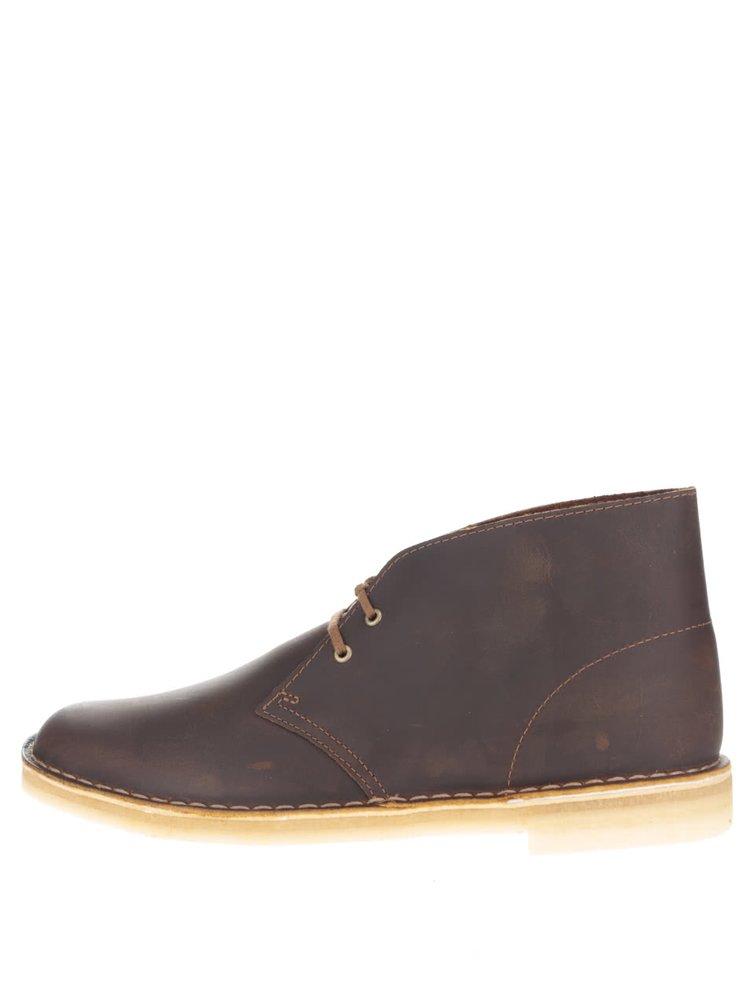 Ghete maro Clarks Desert Boot pentru bărbați
