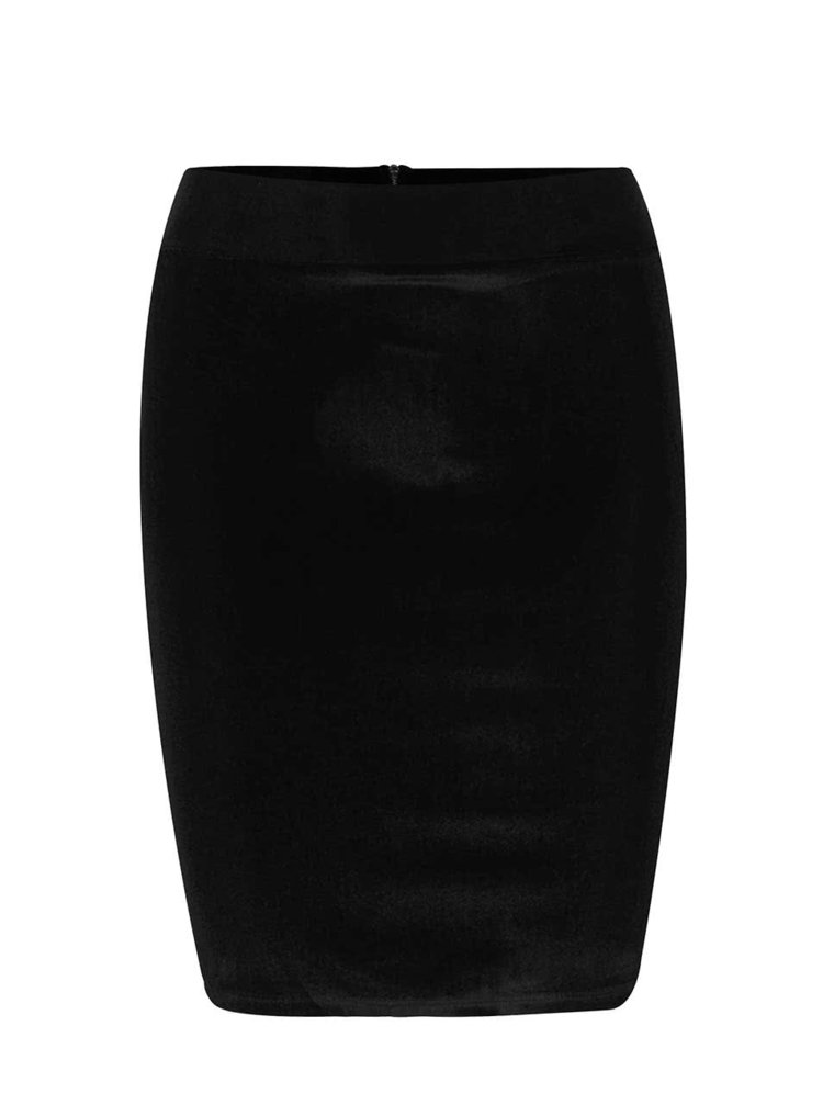 Černá sametová sukně Miss Selfridge