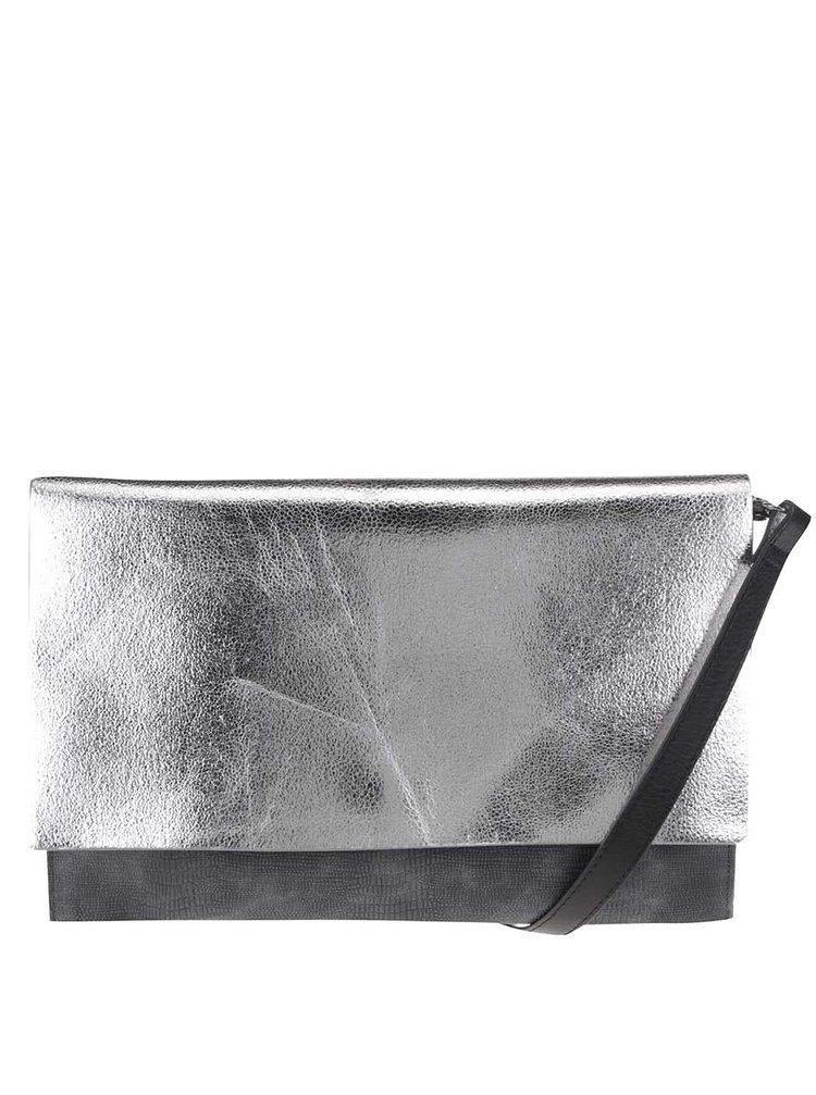 Stříbrno-šedá metalická crossbody kabelka/psaníčko Clarks Moroccan