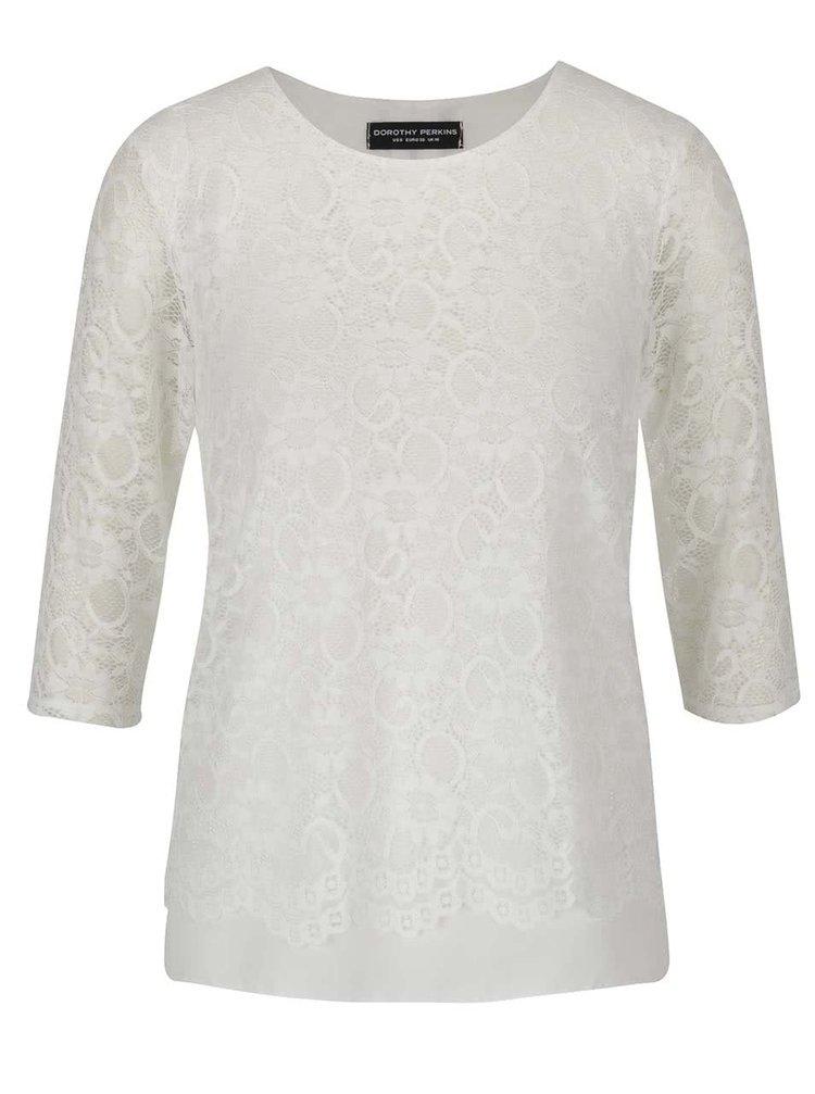 Bluză crem din dantelă Dorothy Perkins