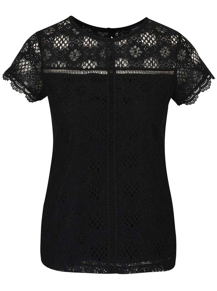 Tricou negru din dantelă Dorothy Perkins