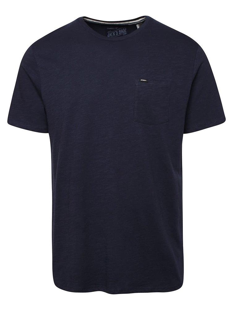 Tmavomodré pánske melírované tričko s vreckom O´Neill Jack´s base