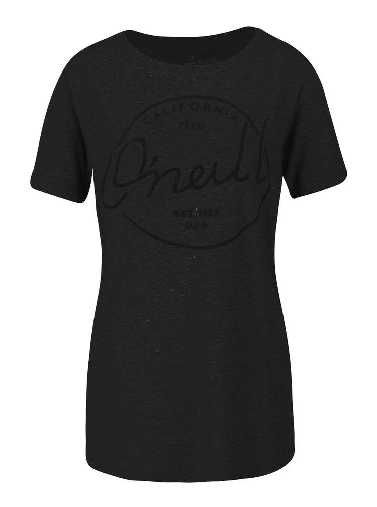 Čierne dámske tričko s potlačou O'Neill Base Brand