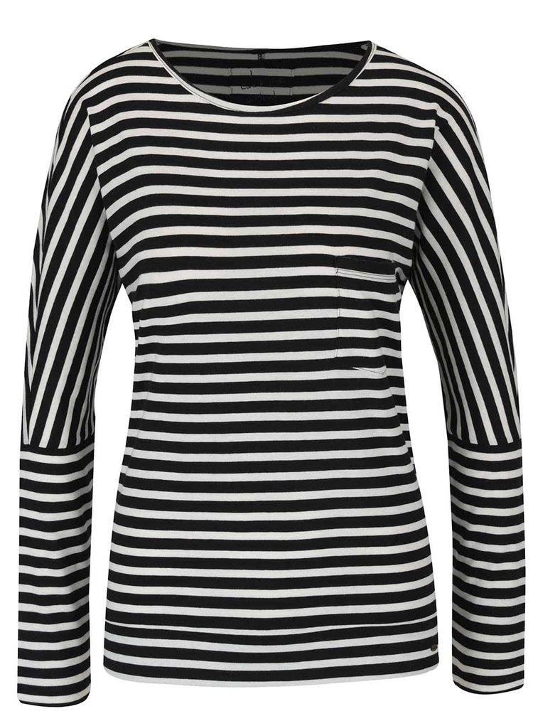 Černo-bílé dámské pruhované tričko O'Neill Fantastic