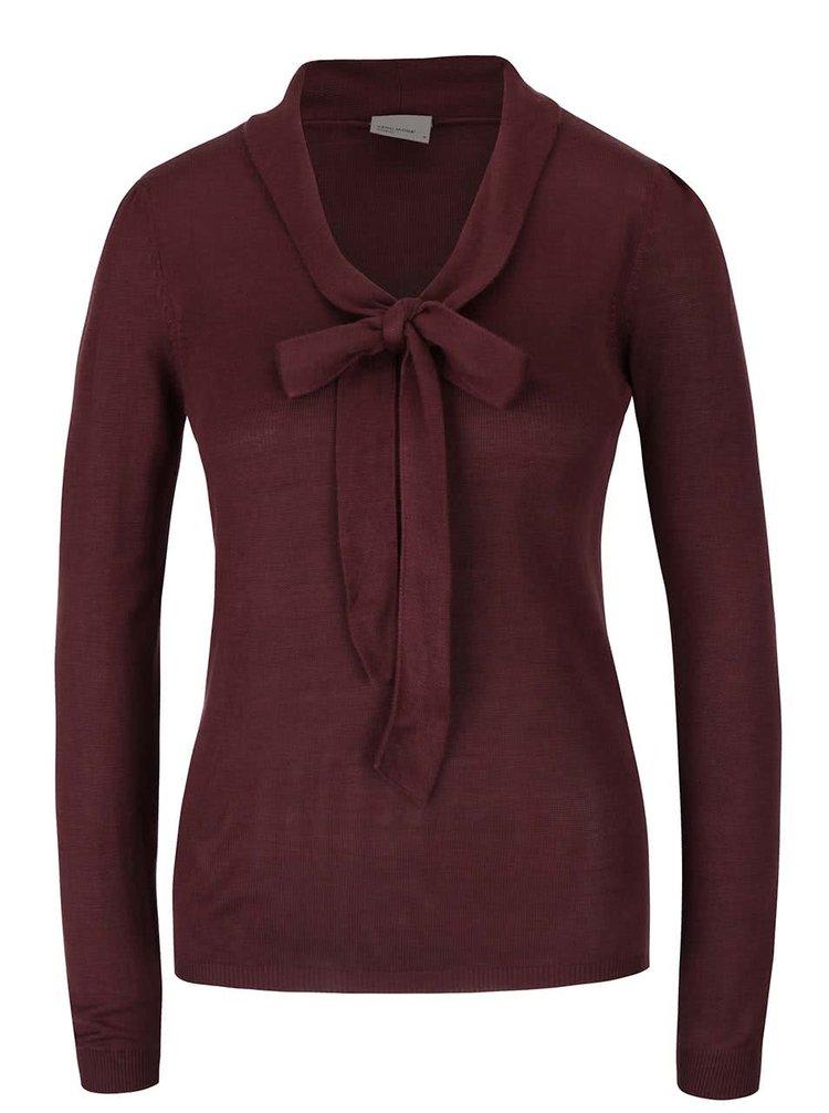 Hnedý sveter s mašľou VERO MODA Rubi