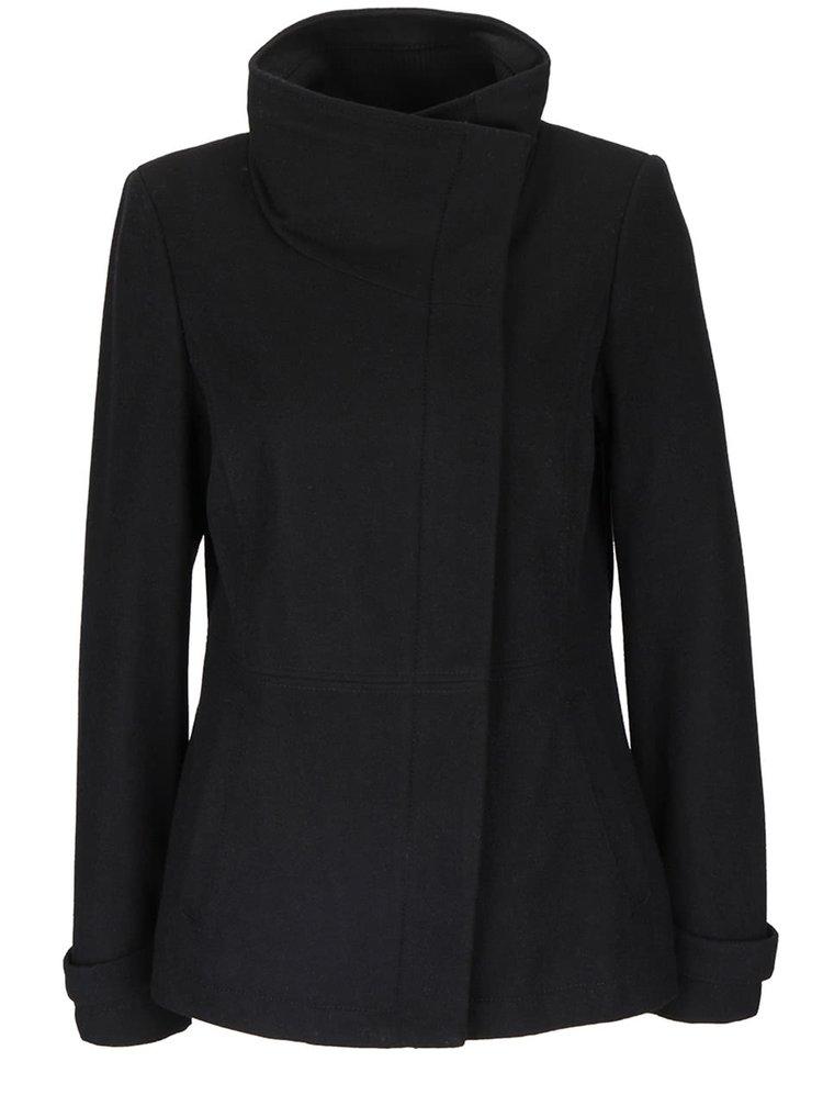 Oliver · Čierny dámsky kabát s vysokým golierom s.Oliver 92f51106e55