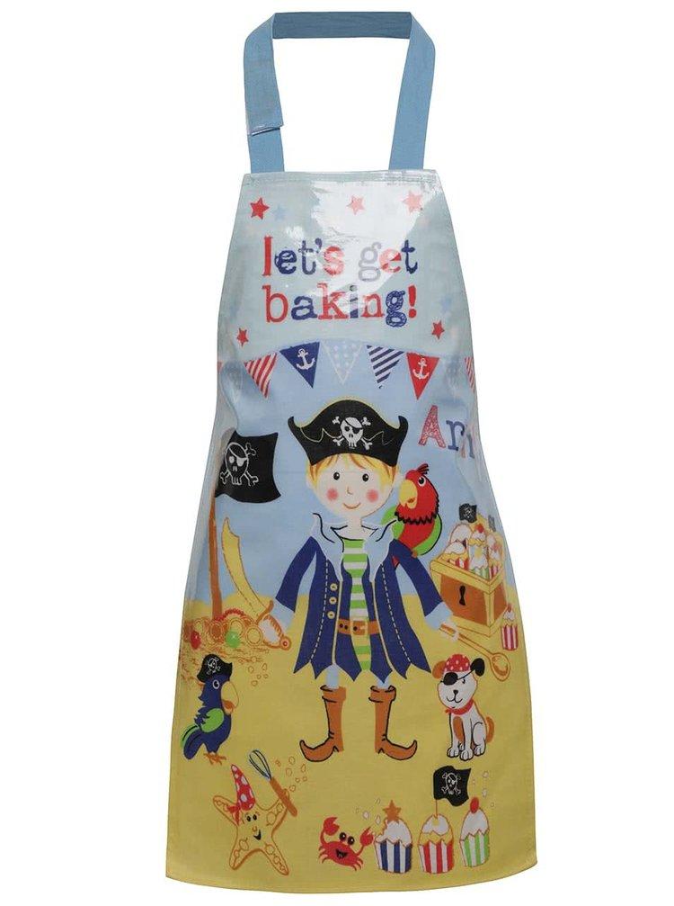 Modrá chlapčenská zástera na varenie s pirátskym motívom Cooksmart