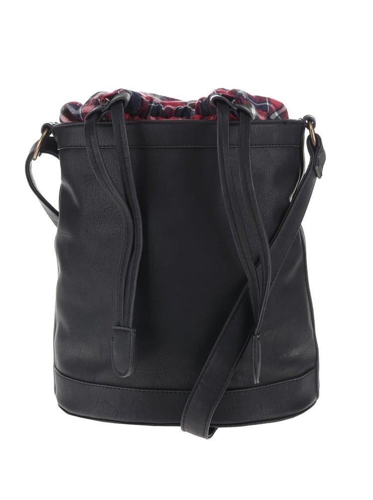 Čierna menšia kabelka so sťahovaním VERO MODA Check