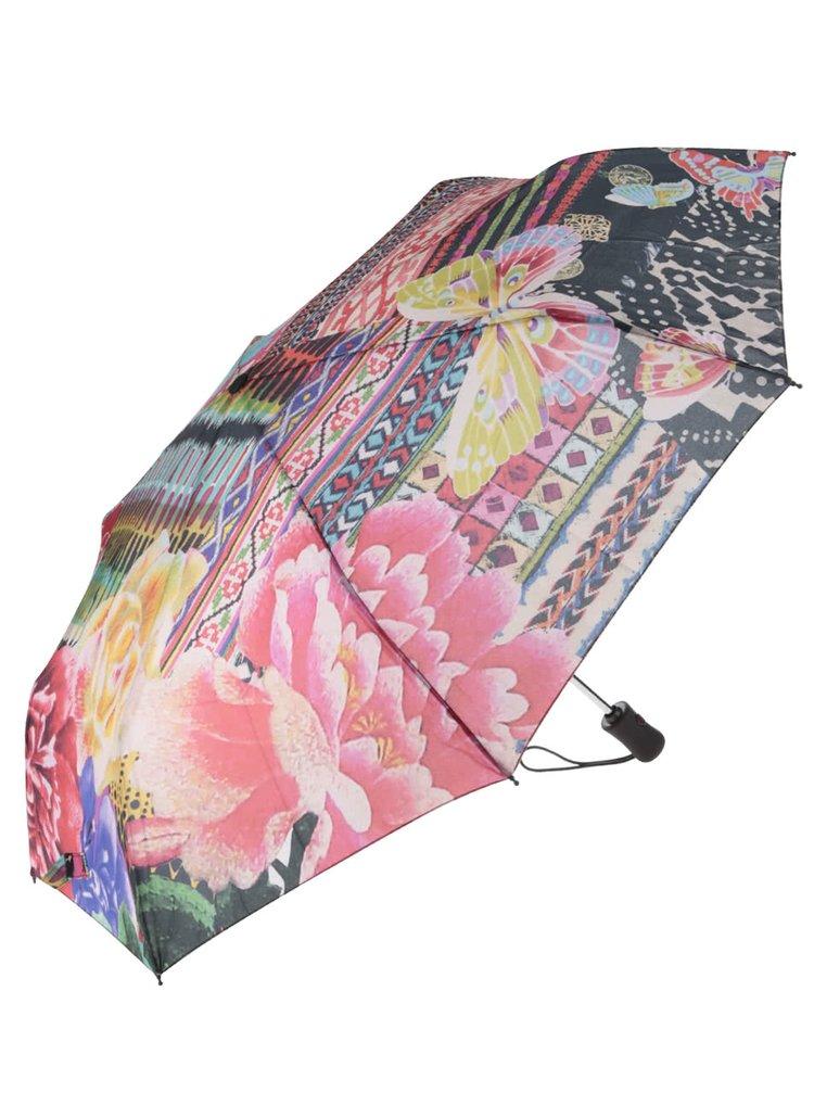 Barevný vzorovaný deštník Desigual Casilda
