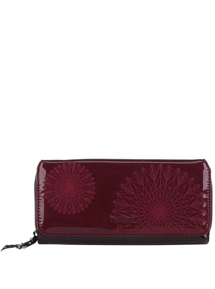 Vínová lesklá peňaženka Desigual Maria Katia