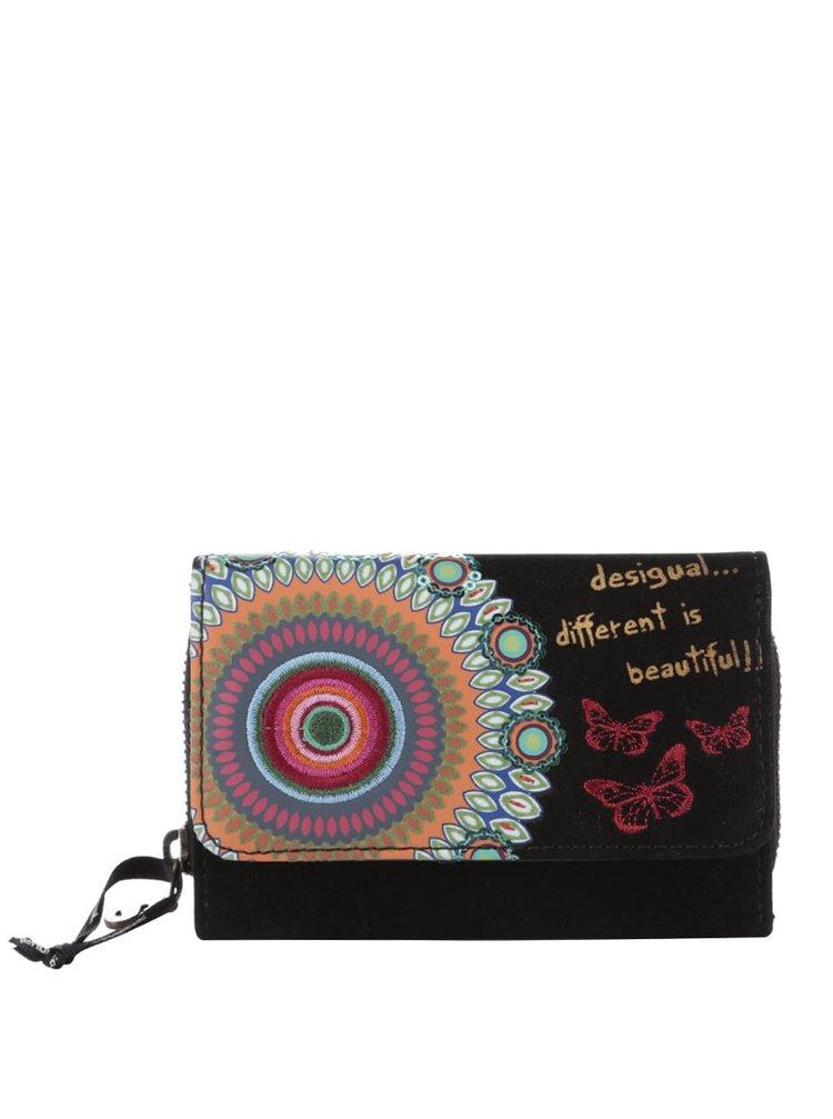 Čierna peňaženka v semišovej úprave Desigual Maria Candy