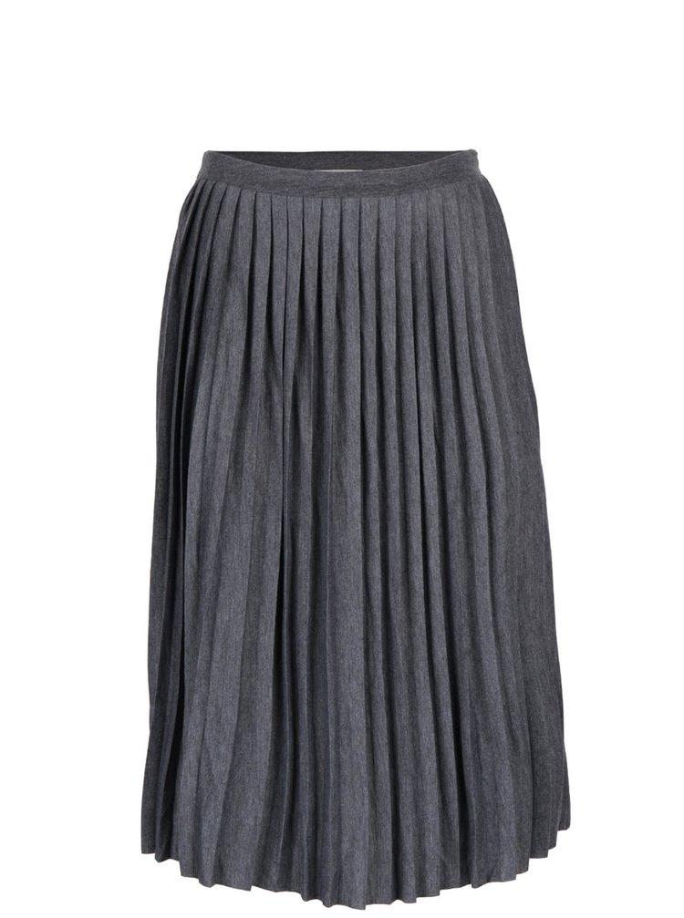 Sivá plisovaná sukňa Desires Gunva
