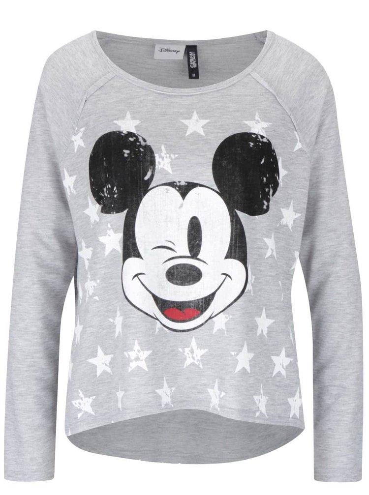 Šedé dámské tričko s potiskem Mickey Mouse Haily´s Micka