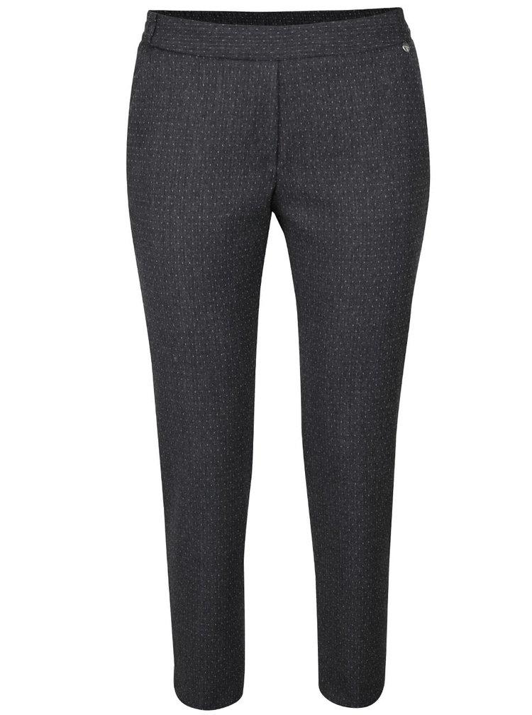 Pantaloni gri Rich & Royal din material texturat