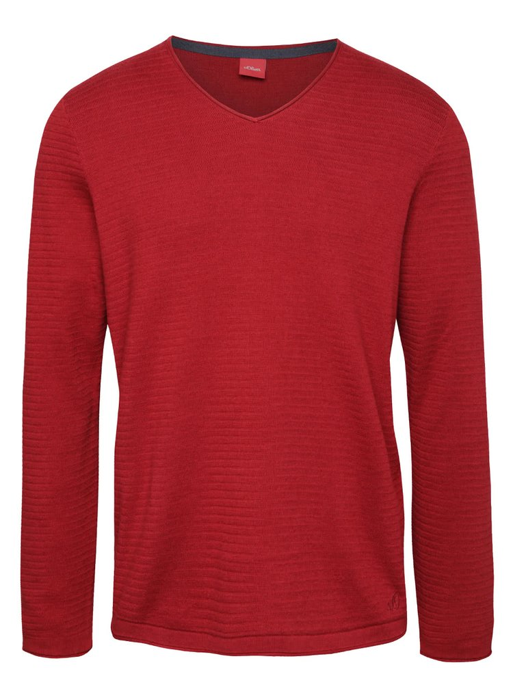 Bluză roșie s.Oliver din bumbac