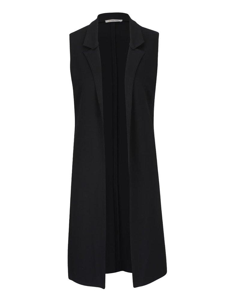 Černá dlouhá vesta Rich & Royal